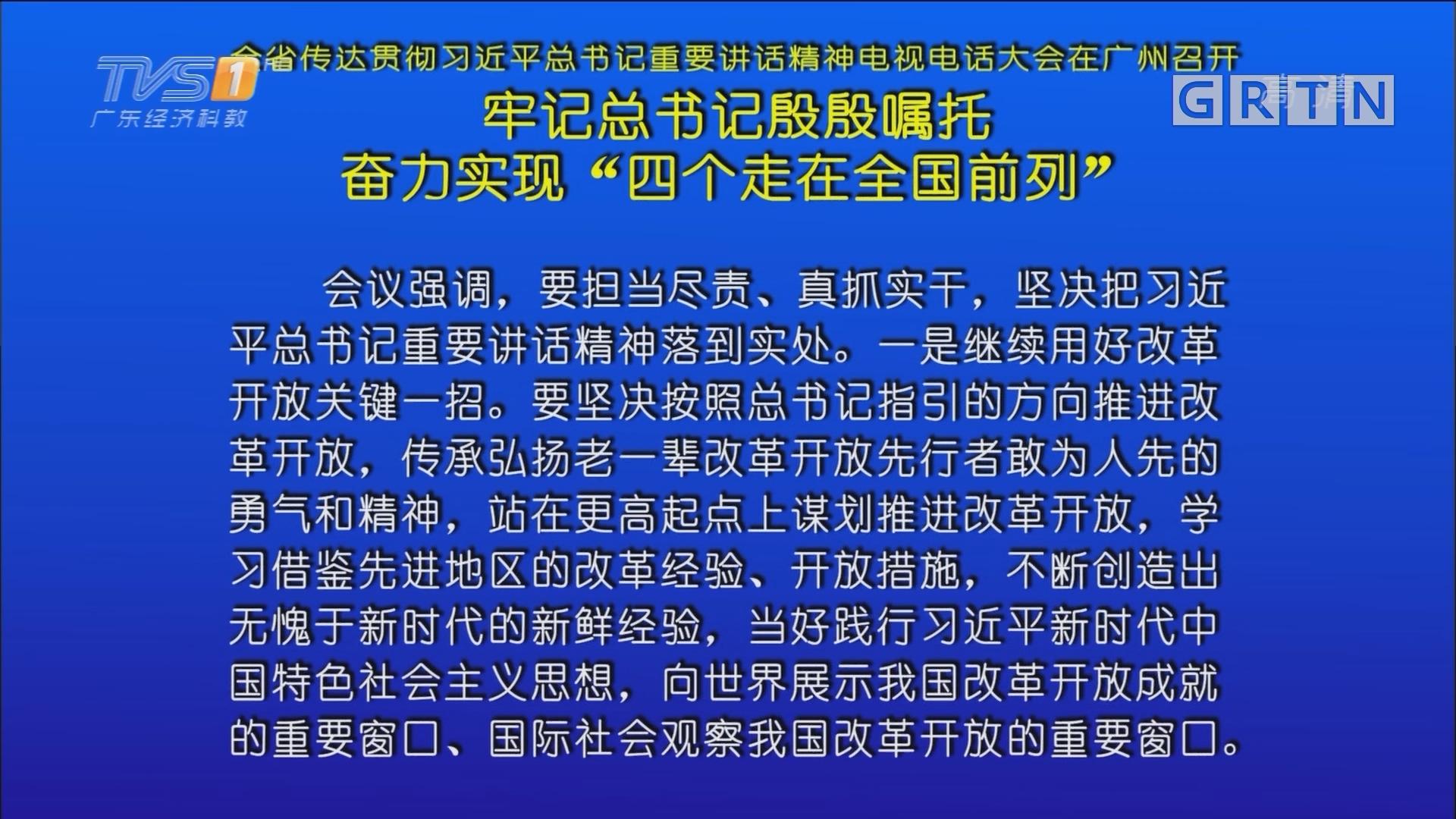 """牢记总书记殷殷嘱托 奋力实现""""四个走在全国前列"""""""