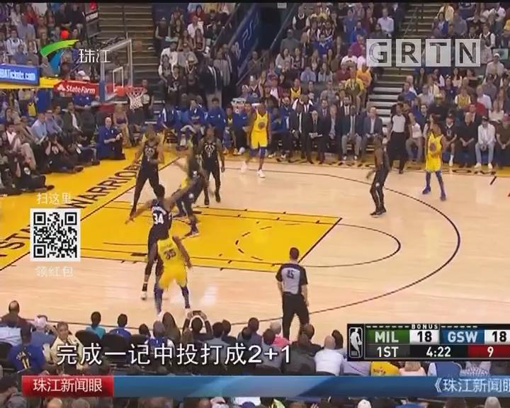 NBA:雄鹿送勇士3连败