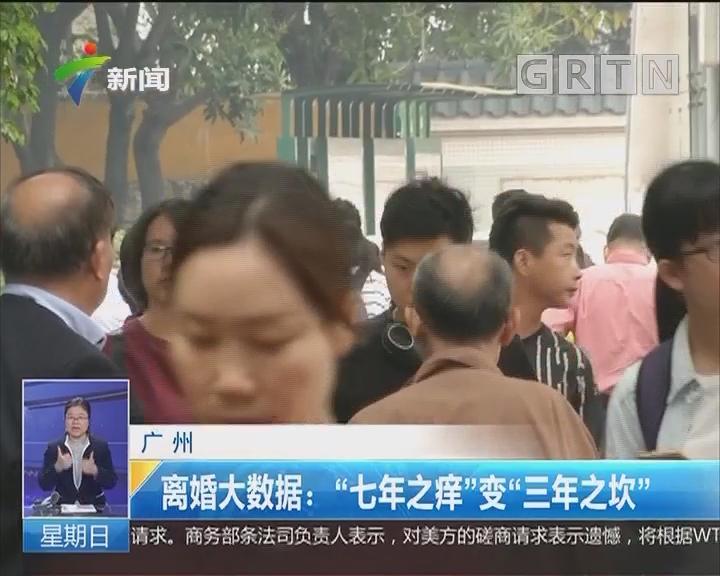 """广州 离婚大数据:""""七年之痒""""变""""三年之坎"""""""