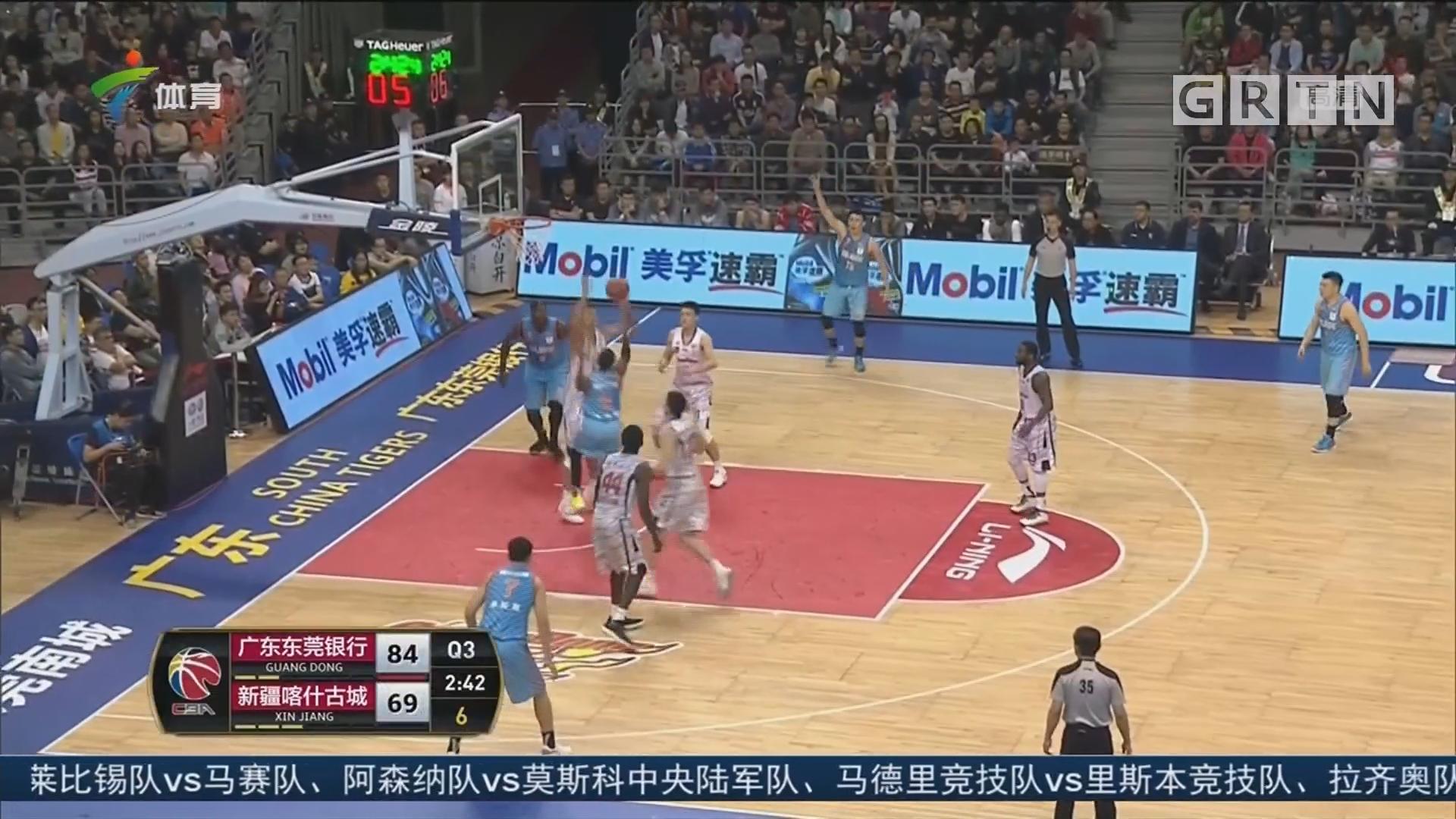 国内球员发挥出色 广东队主场大胜新疆