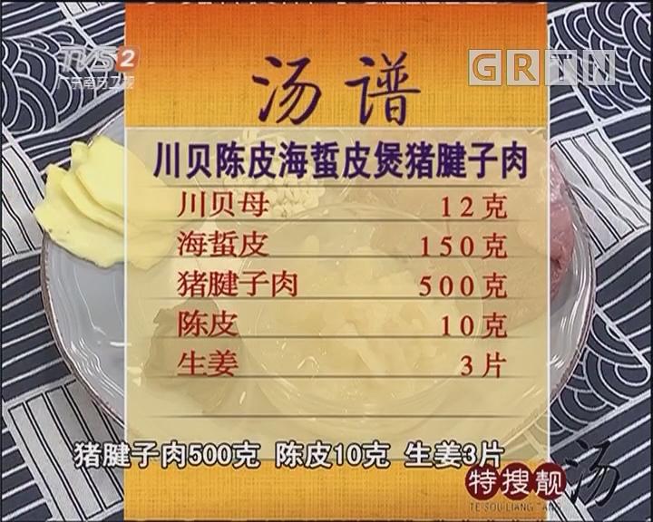 川贝陈皮海蜇皮煲猪腱子肉