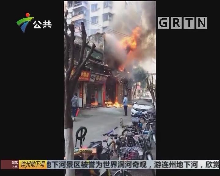 佛山:民宅起火 街坊救出屋内婆婆