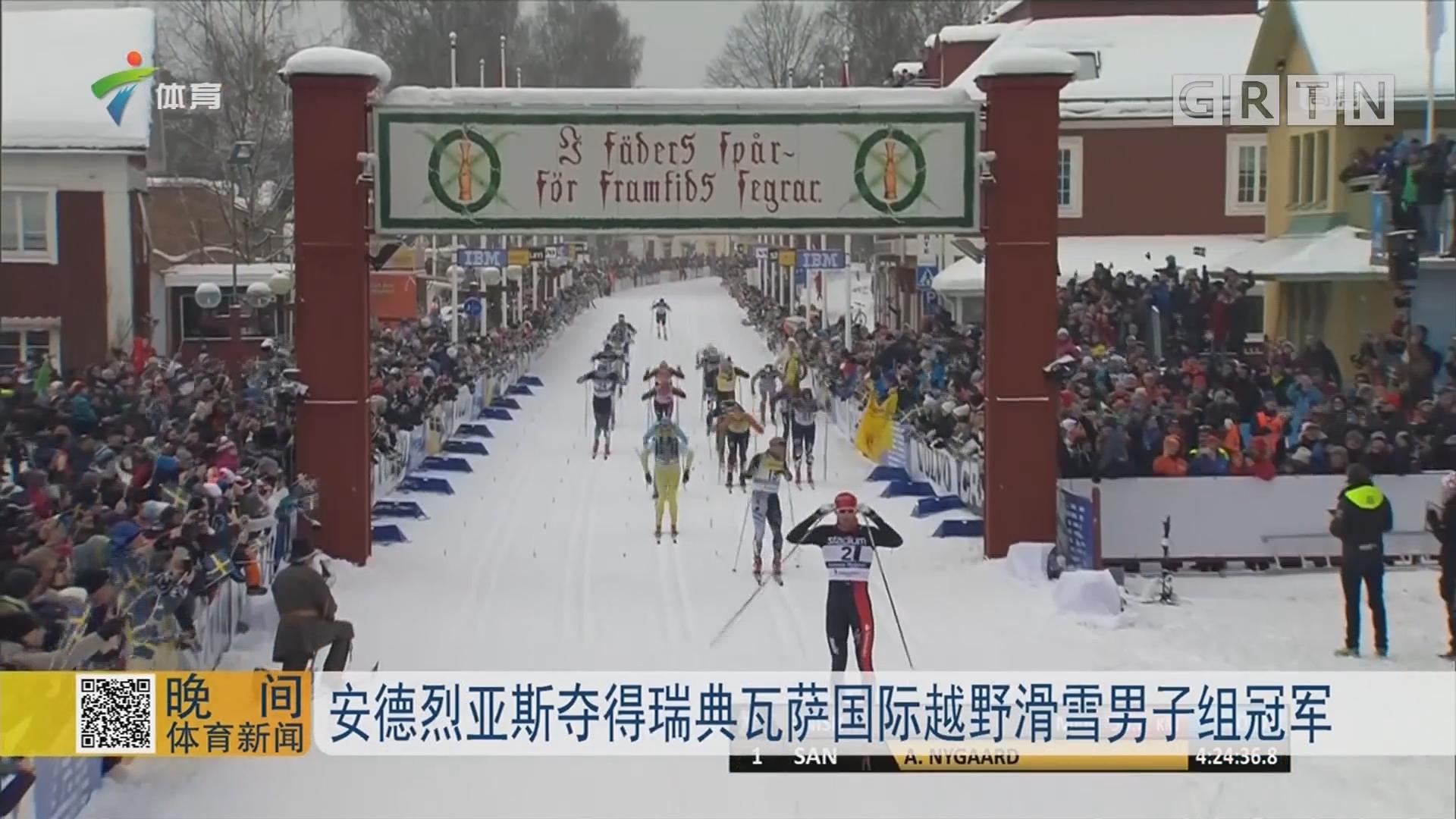 安德烈亚斯夺得瑞典瓦萨国际越野滑雪男子组冠军