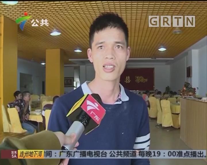 惠州:砖块突然倾斜 多车逃过一劫