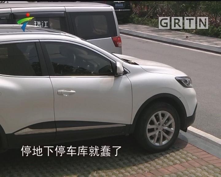 广州:小区花园变停车场 缘为嫌车库停车太贵