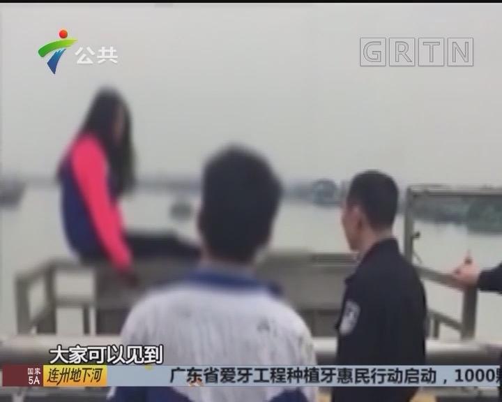 女子桥上跳下 多部门合力救起