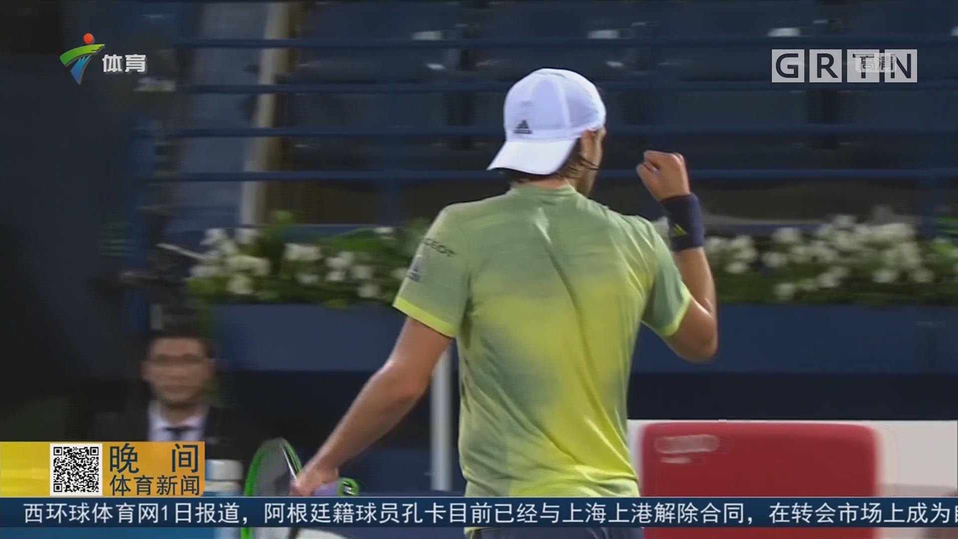 ATP迪拜赛 普伊逆转日本名将进四强