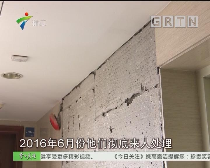 深圳:十年楼龄小区墙面瓷砖大面积脱落