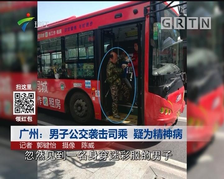 广州:男子公交袭击司乘 疑为精神病