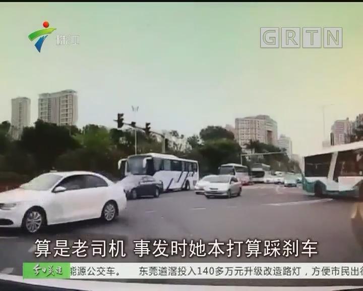 珠海:惊险!小车闯红灯还连撞3车