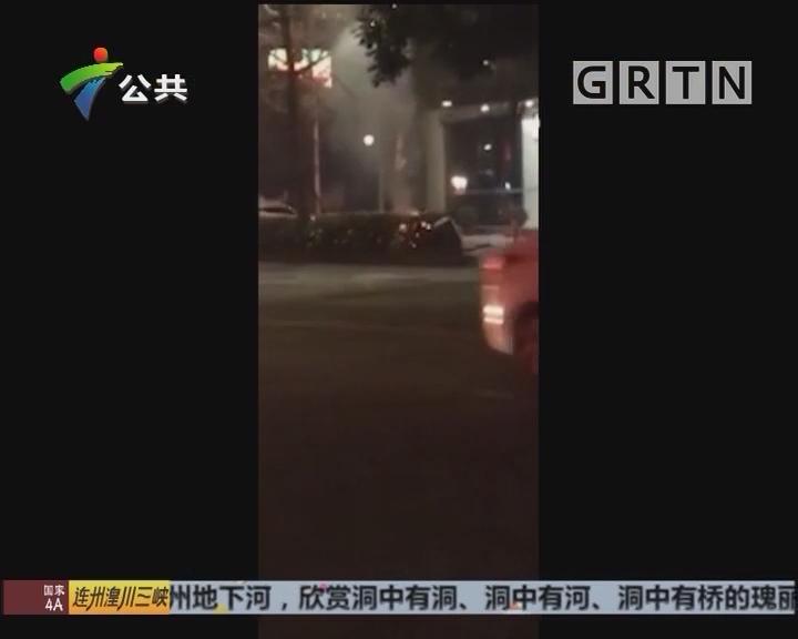 阳江:男子做出过激行为 被警方带走