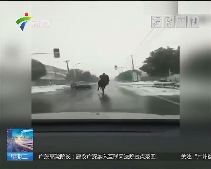"""陕西:男子骑马主干道上""""行驶"""""""