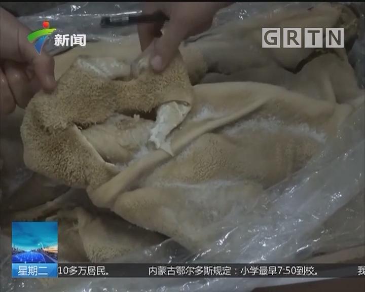 打击走私:广东海警查获涉嫌走私冻品
