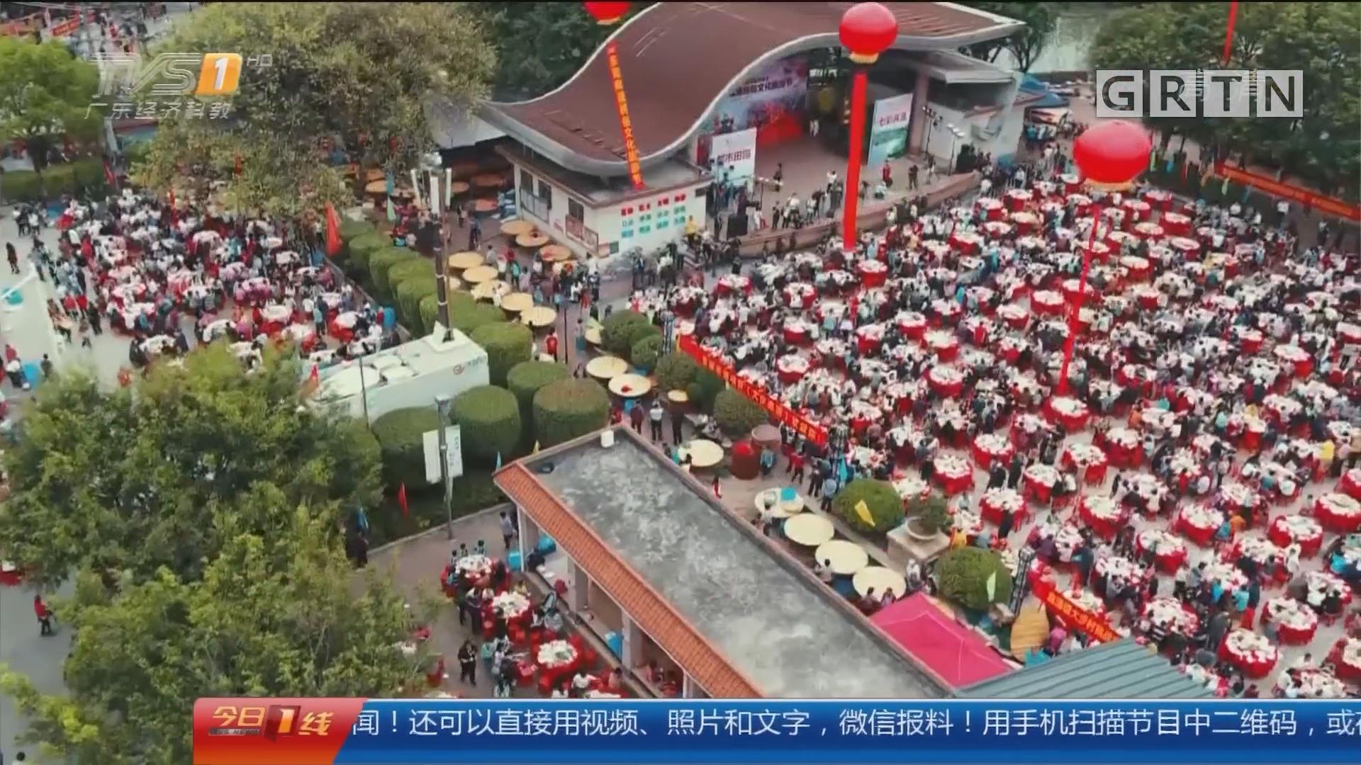 东莞麻涌:3800围万人宴 挑战吉尼斯