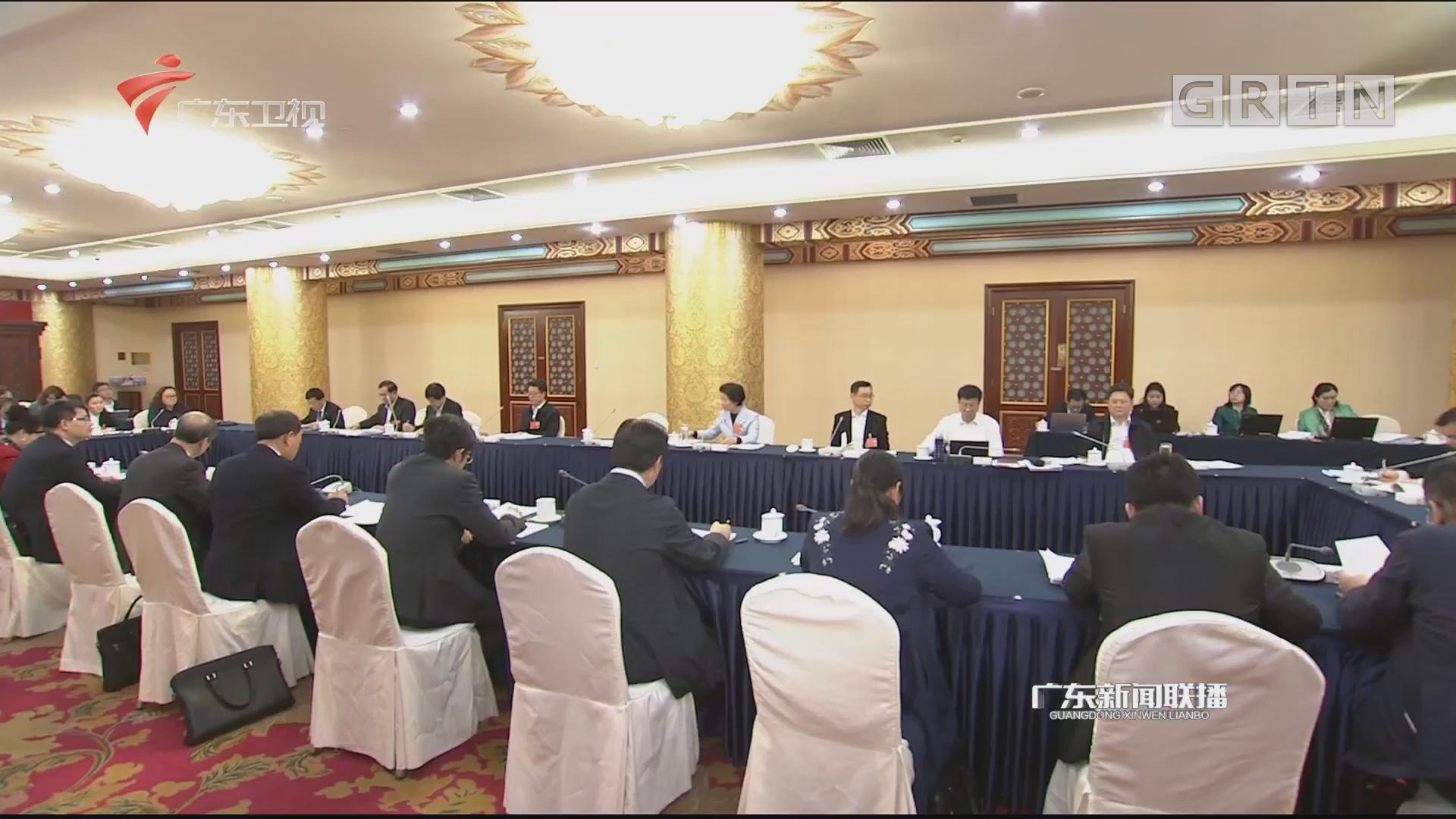 广东团分组审议宪法修正案草案 李玉妹参加审议