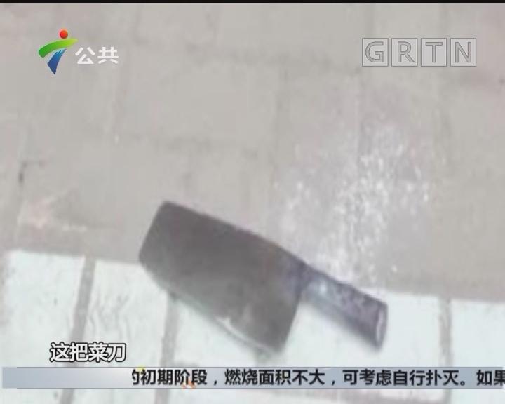 惠州:菜刀从天而降 吓坏一众街坊