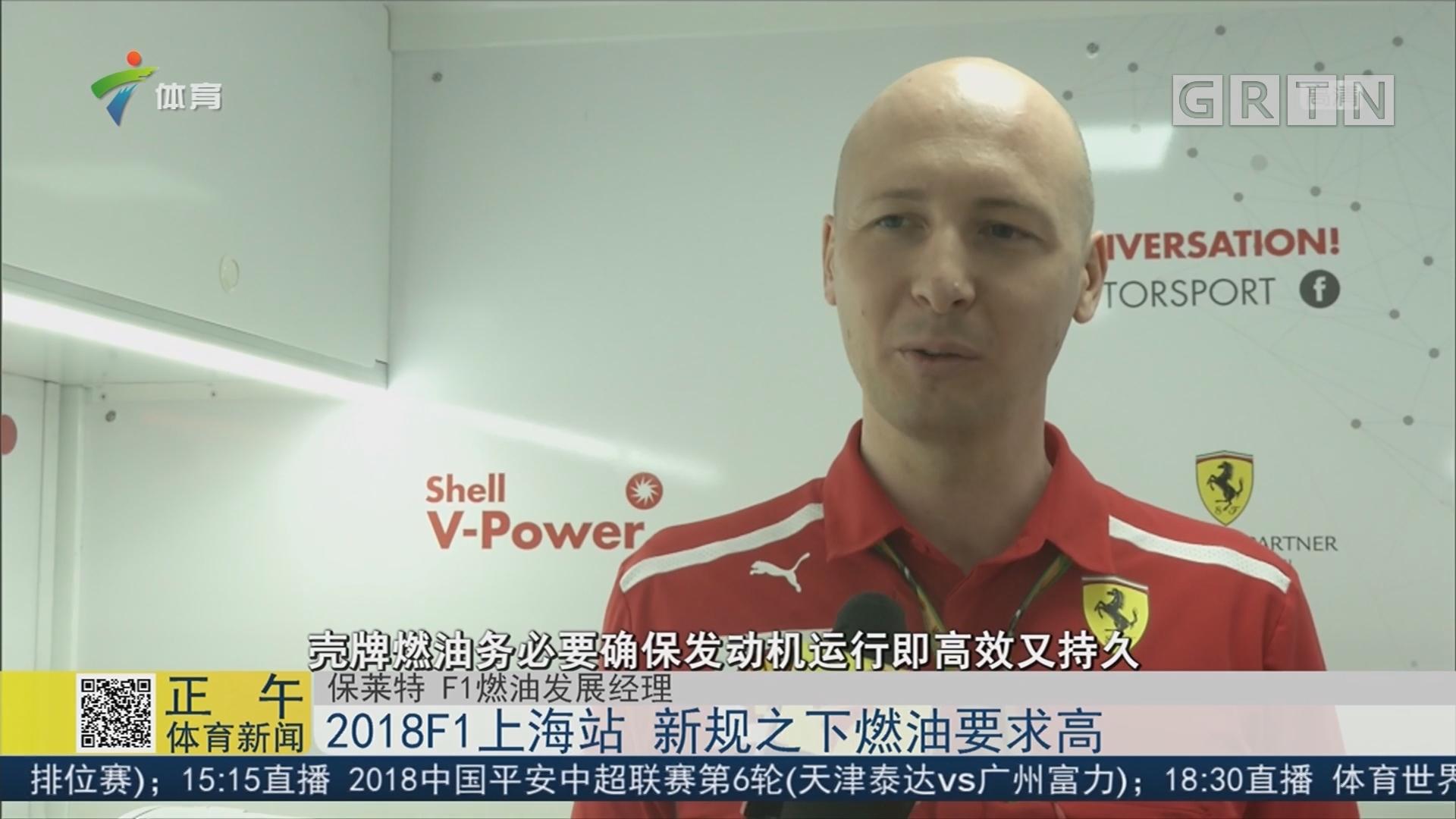 2018F1上海站 新规之下燃油要求高