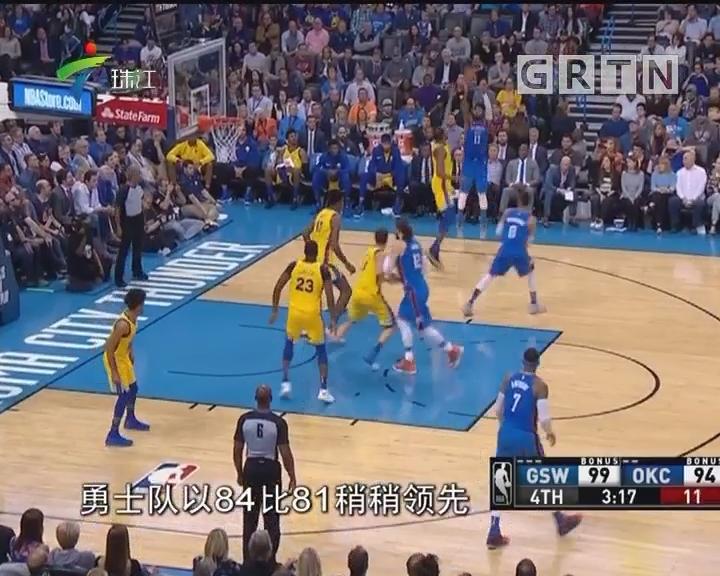 NBA:威少空砍44分16板 雷霆憾负勇士