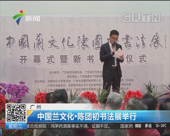 广州:中国兰文化·陈团初书画展举行