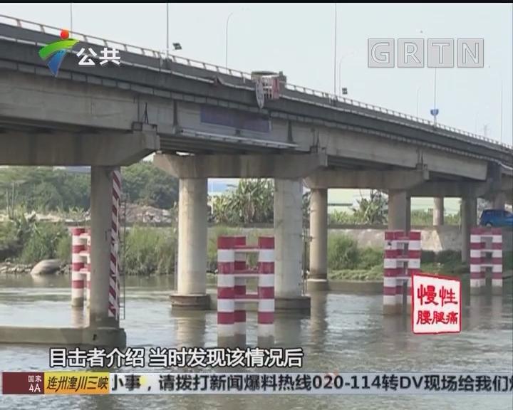 南沙:西樵大桥临时管制 又因砂船撞桥所致