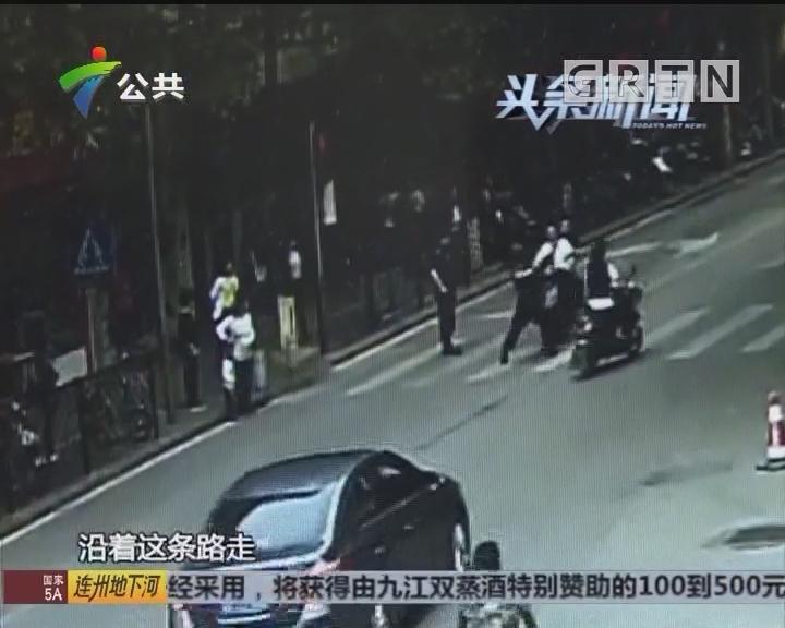 从化:男子驾驶无牌摩托车冲卡 特勤队员被撞倒