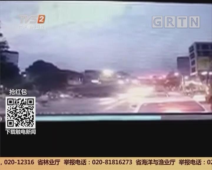 梅州:超载大货车侧翻 导致6人身亡1人受伤