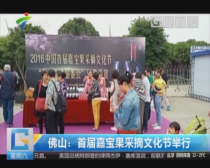 佛山:首届嘉宝果采摘文化节举行