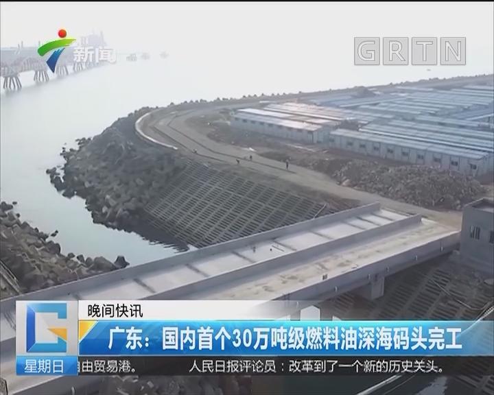 广东:国内首个30万吨级燃料油深海码头完工