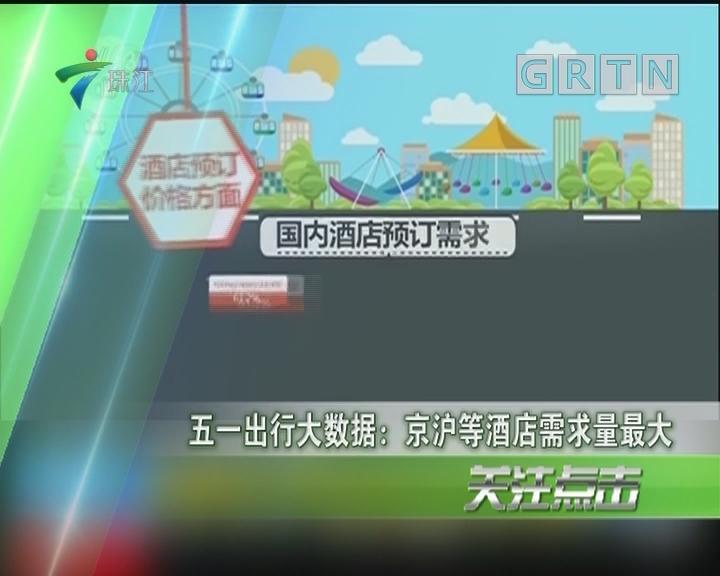 五一出行大数据:京沪等酒店需求量最大