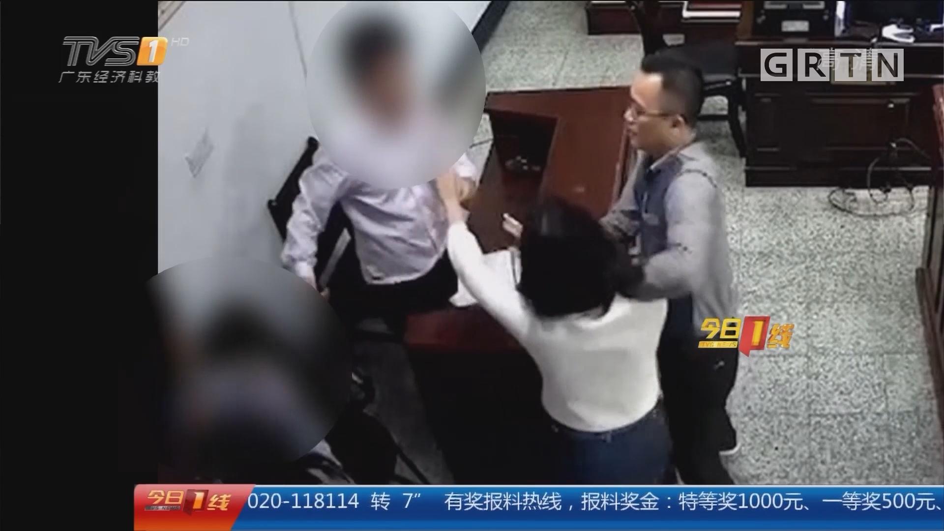 扰乱法庭:法庭之上 母子联手打儿媳被拘留