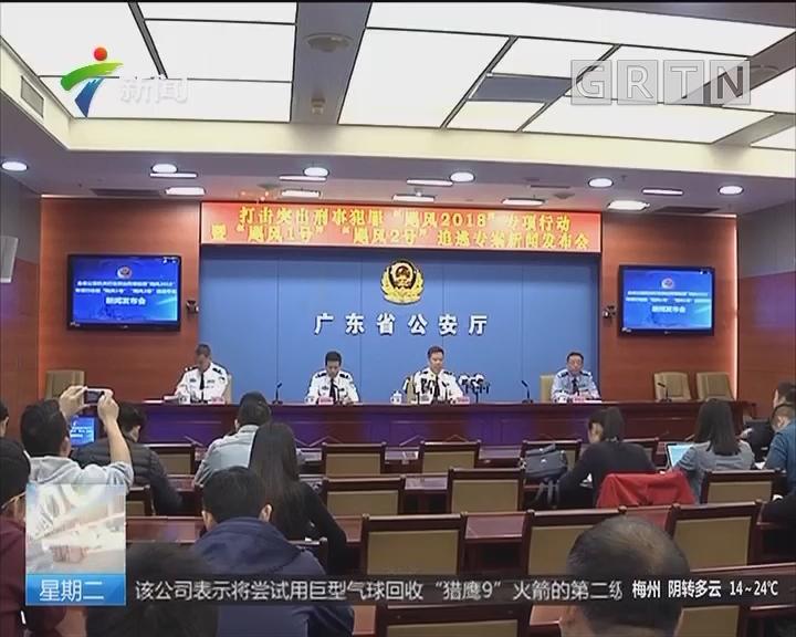"""广东:警方""""飓风""""专项行动抓获在逃人员638名"""