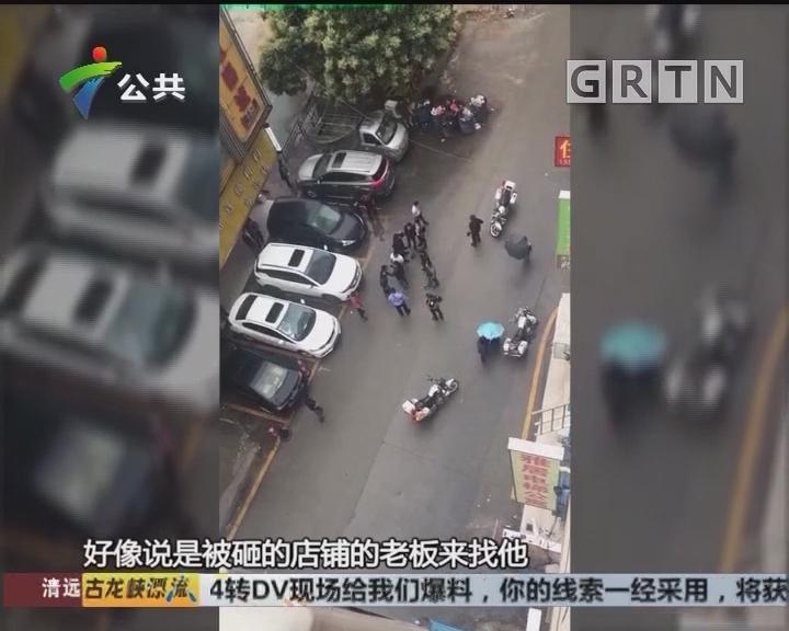 广州:男子醉酒闹事 被警方制服