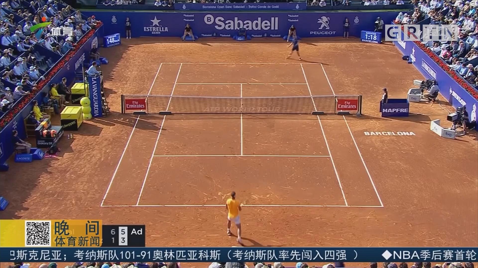 ATP巴塞罗那赛 纳达尔携迪米晋级八强