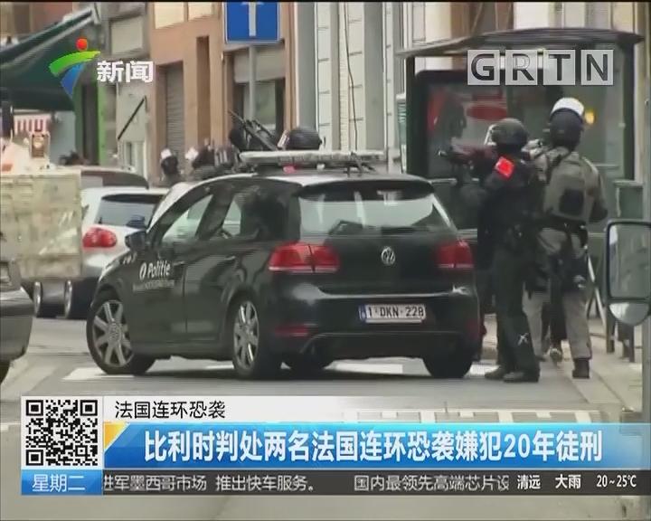 法国连环恐袭:比利时判处两名法国连环恐袭嫌犯20年徒刑