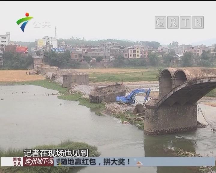 阳江:旧桥坍塌工人坠落 已被救出送院