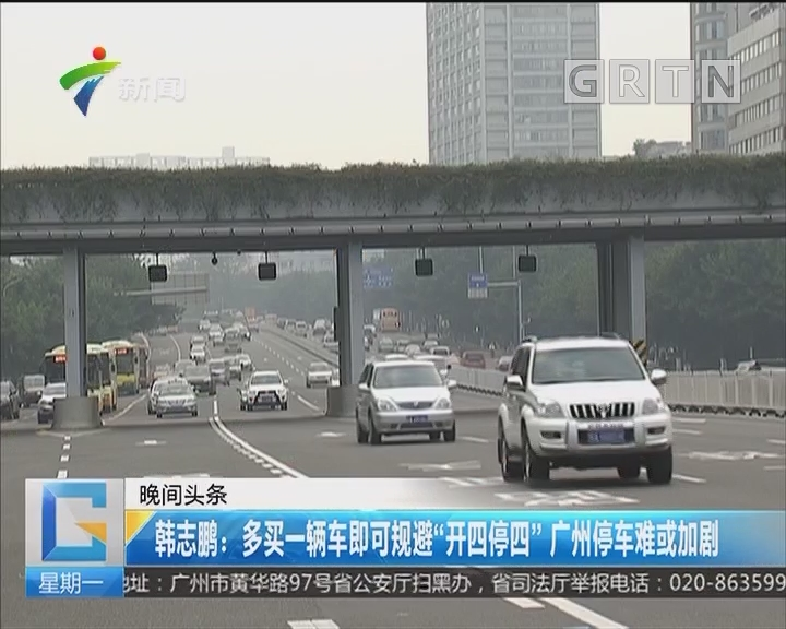"""韩志鹏:多买一辆车即可规避""""开四停四"""" 广州停车难或加剧"""