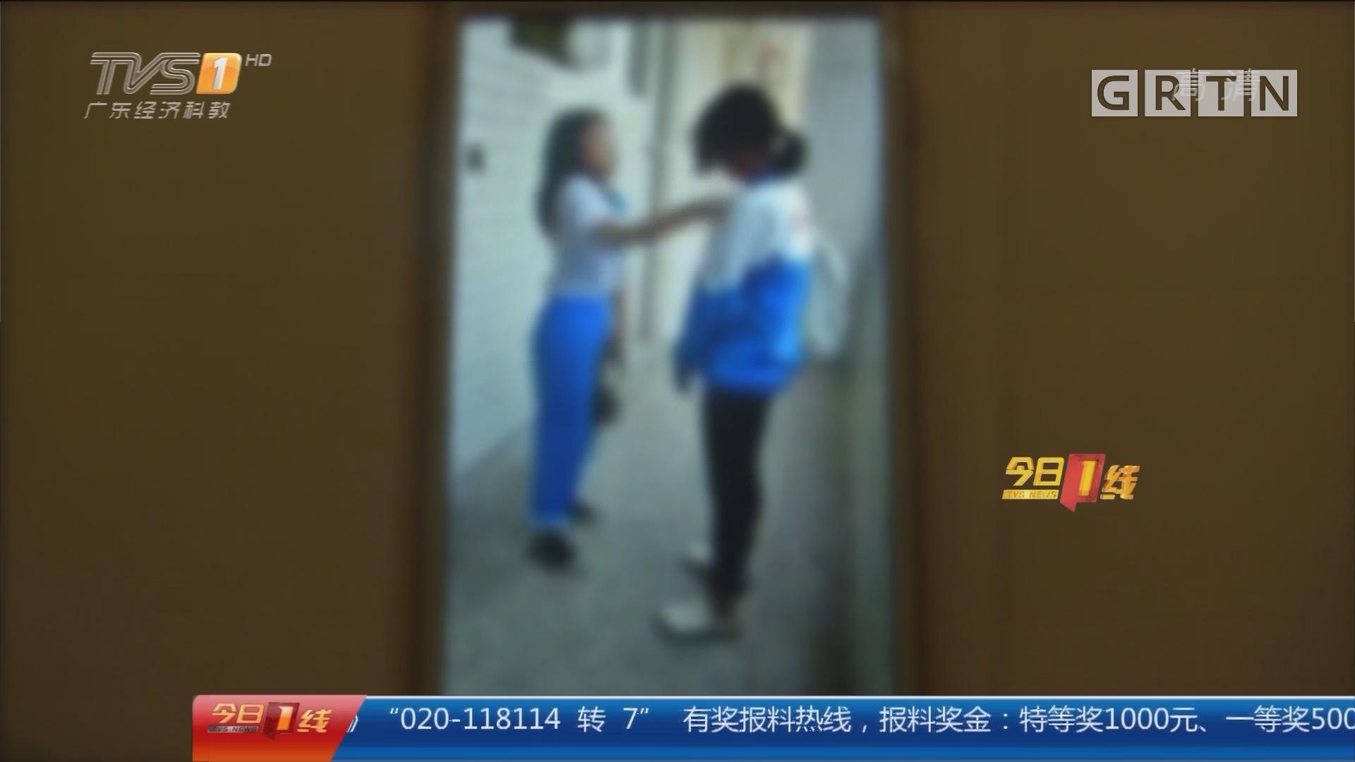 梅州兴宁:中学女生被狂扇24记耳光 警方调查