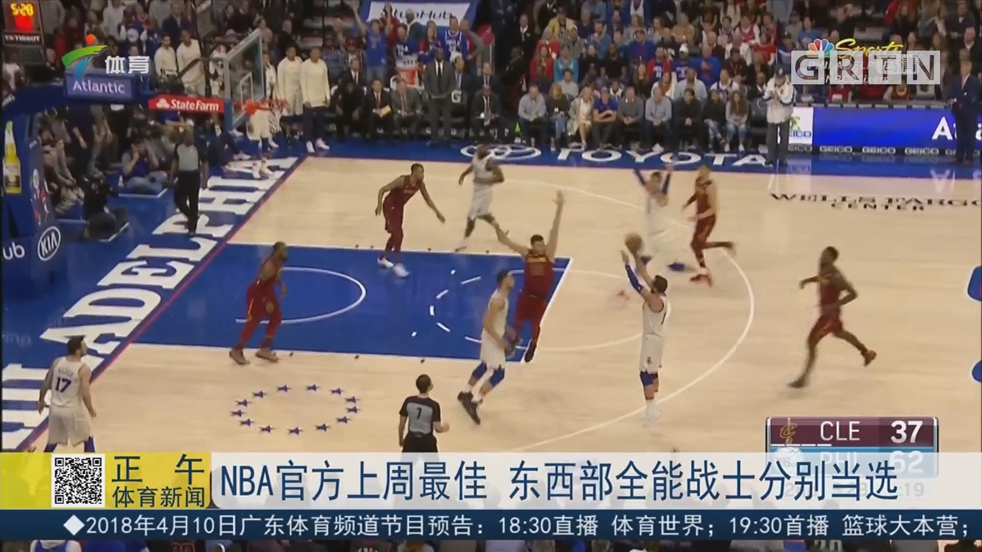 NBA官方上周最佳 东西部全能战士分别当选