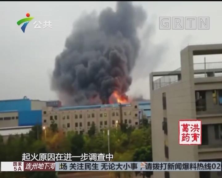 佛山:铝材厂突然起火 员工迅速疏散