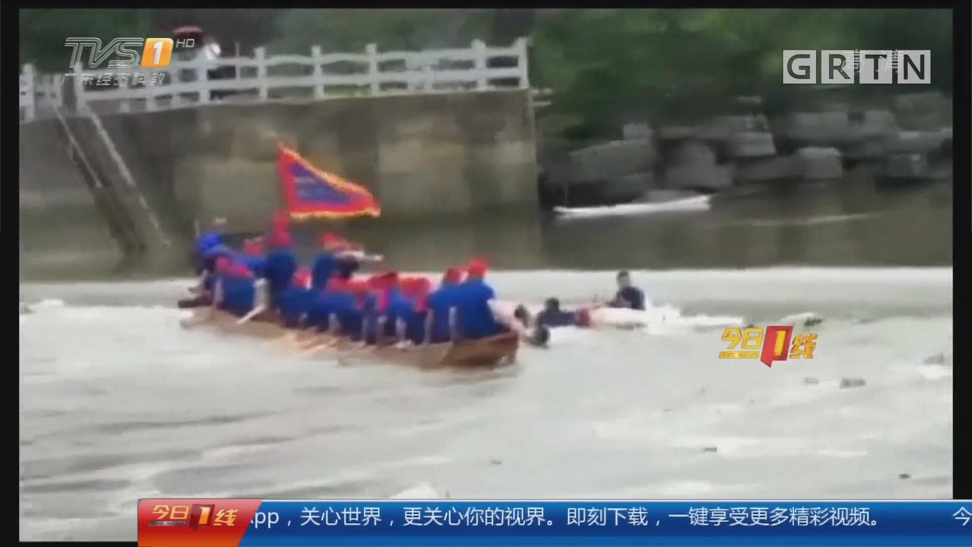 广西桂林:两艘龙舟滚水坝前翻侧 57人落水17死