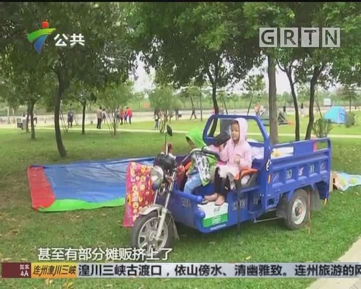 增城:人工沙滩垃圾散布 禁止告示形同虚设