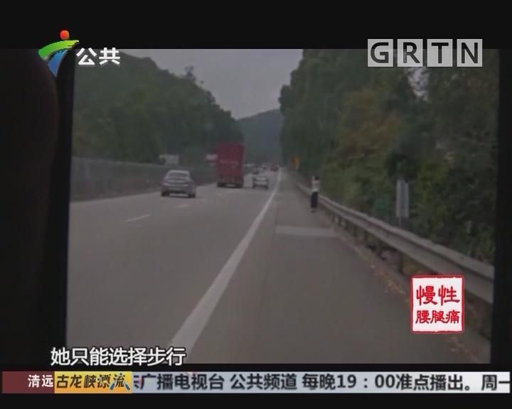 深圳:情侣吵架后女子高速行走 交警帮忙送回家