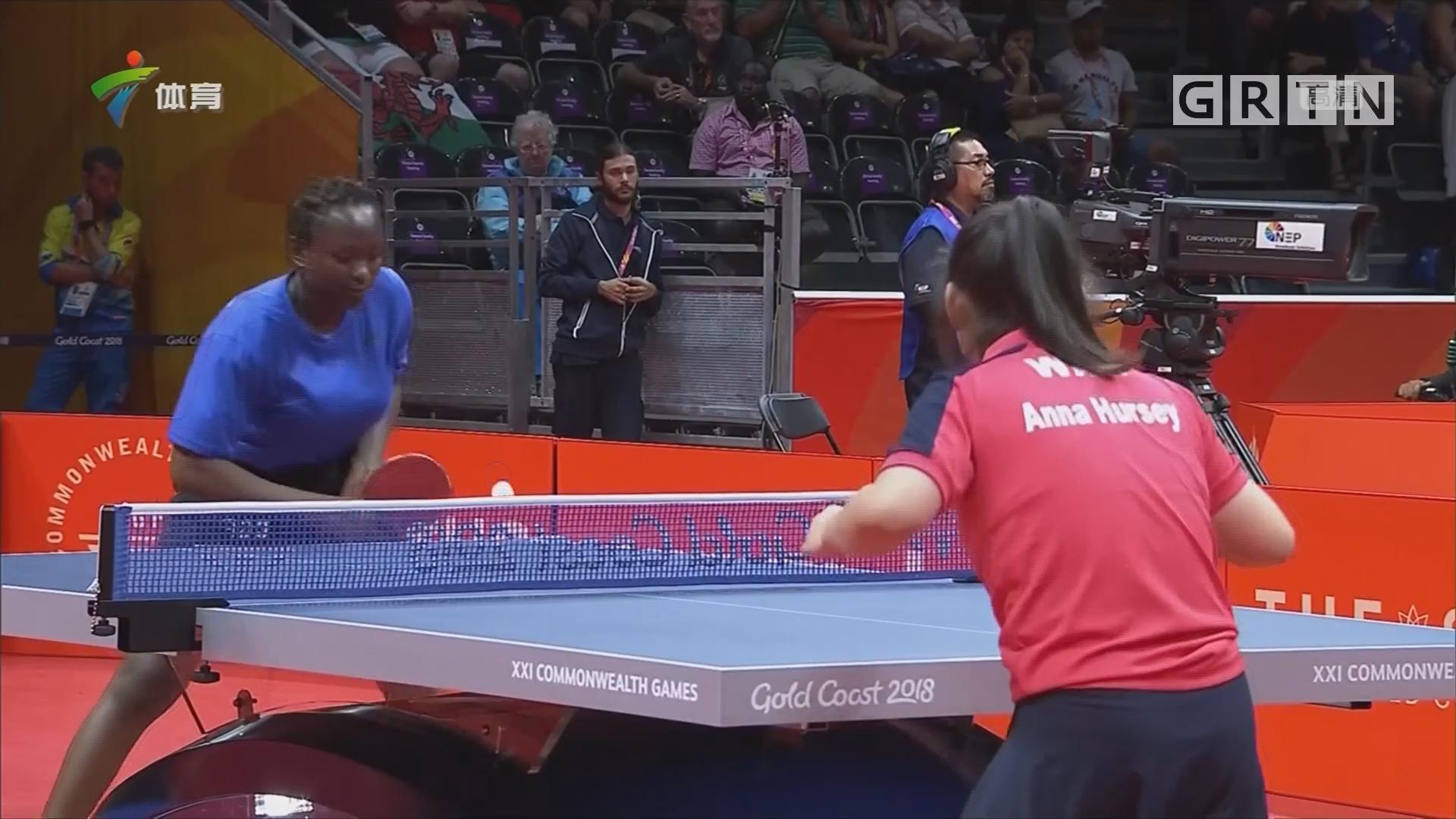 英联邦运动会 威尔士11岁乒球选手横扫对手