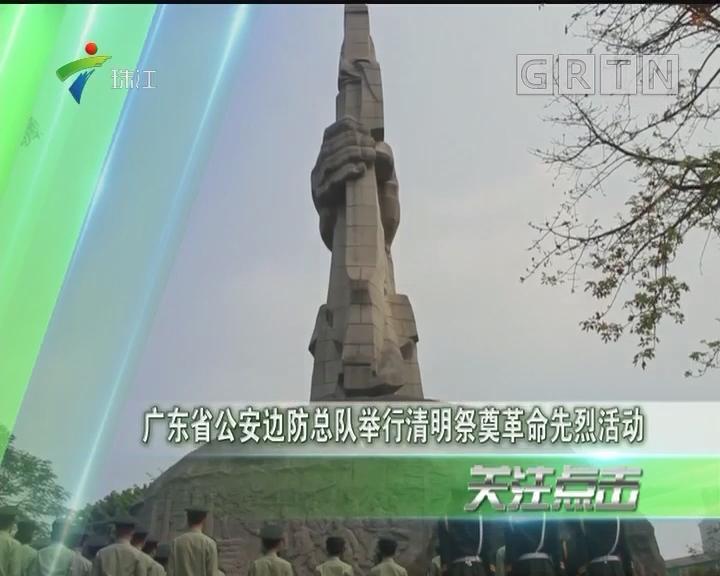 广东省公安边防总队举行清明祭奠革命先烈活动