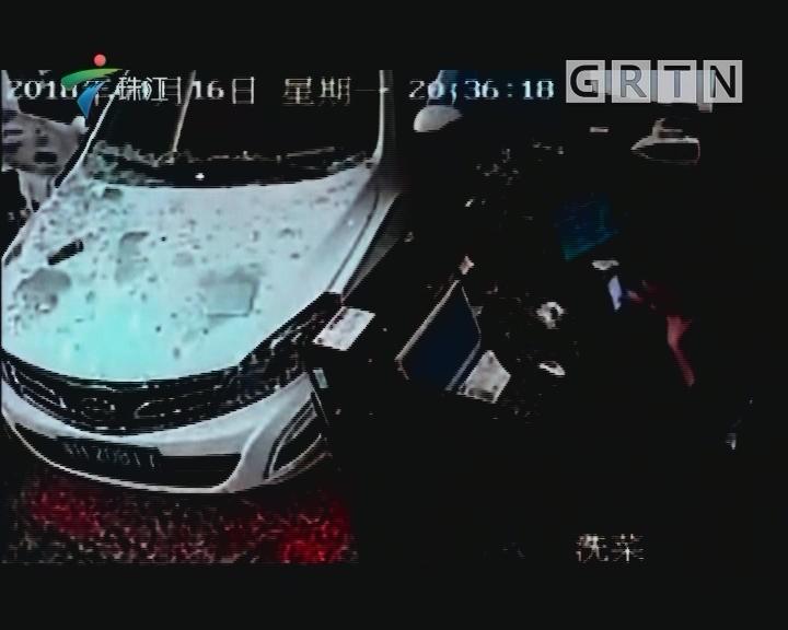 番禺:小车冲进餐厅 疑因操作失误