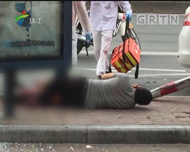 顺德:早高峰小车冲撞公交站 致2死4伤