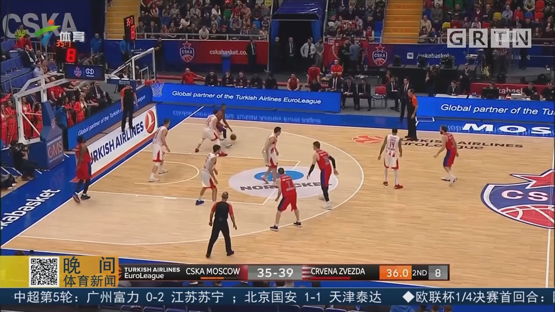 欧洲篮球冠军联赛常规赛收官 莫斯科中央陆军锁定第一