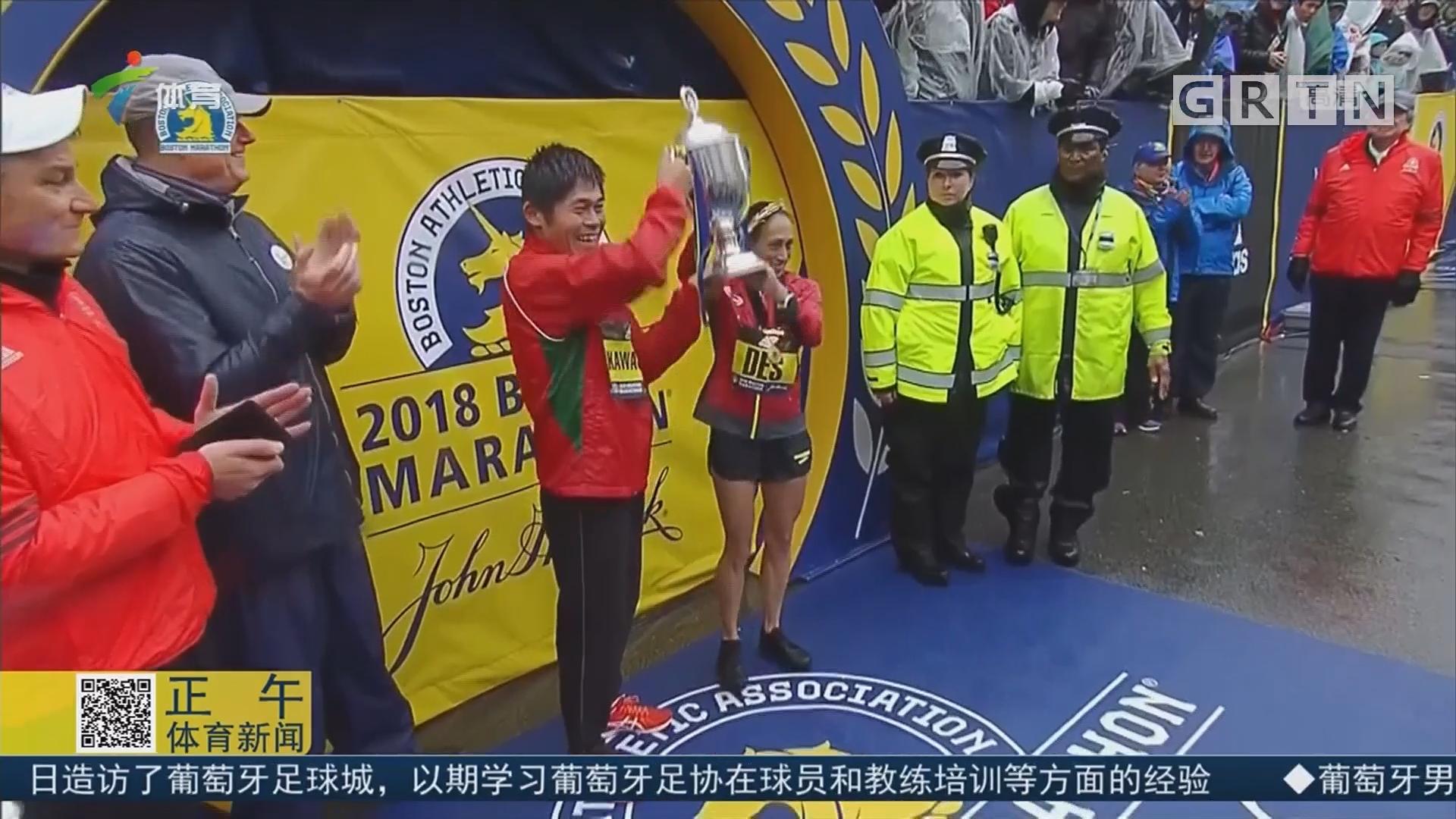 波士顿马拉松 日本、美国选手分获男女子冠军