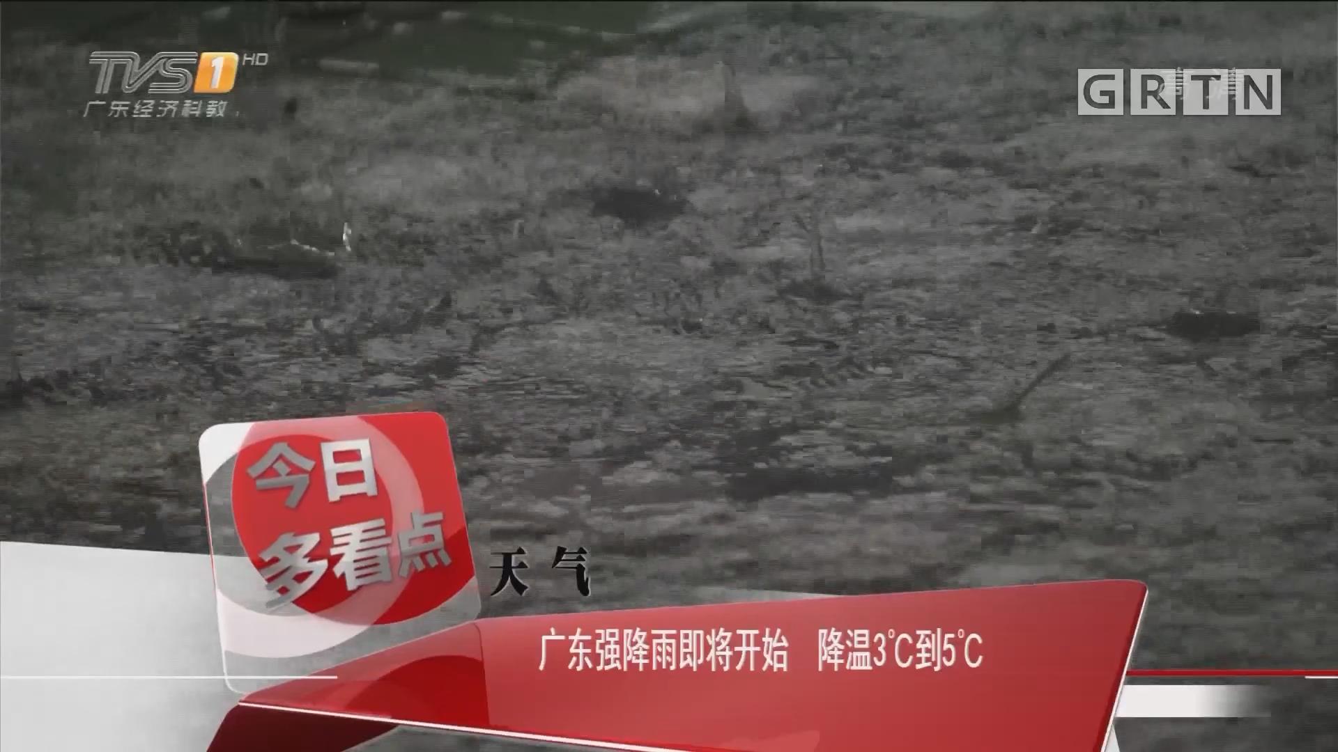 天气:广东强降雨即将开始 降温3℃到5℃