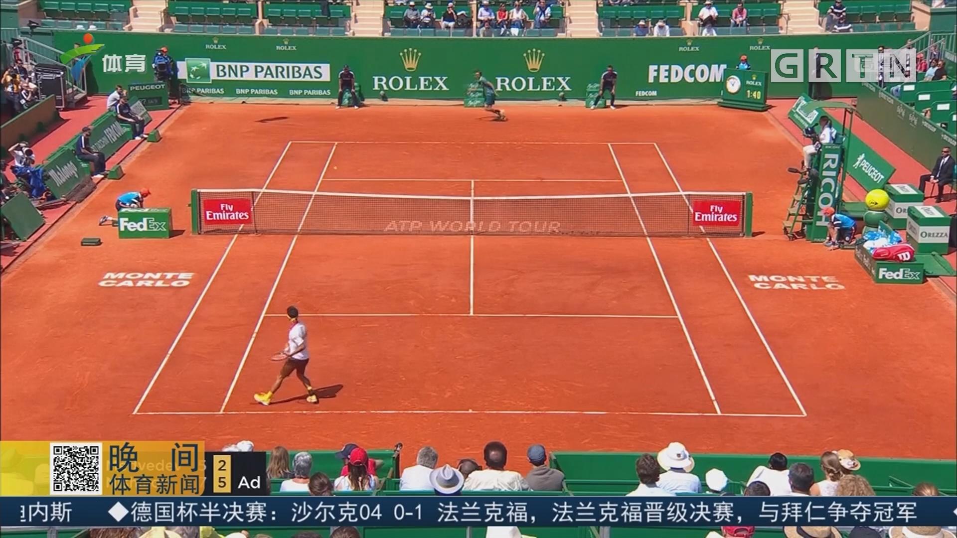 ATP蒙特卡洛大师赛 锦织圭顺利晋级16强